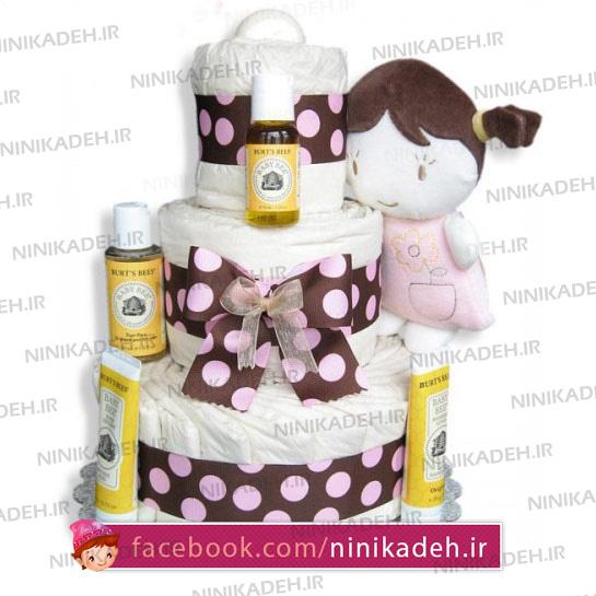 کیک پوشکی دخترونه